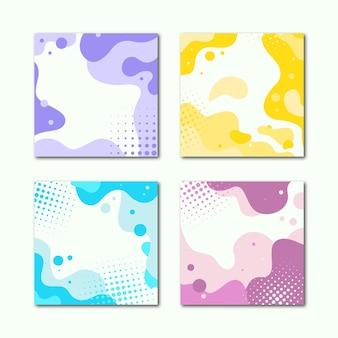 Een set van abstracte reclamebanners met vloeiende lijnen. vector illustratie.