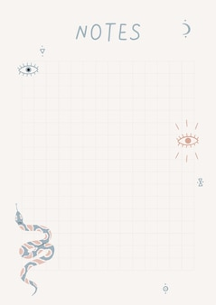 Een sjabloon voor eenvoudige planners en todo-lijstjes illustraties in pastelkleuren
