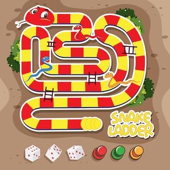 Een slangladderspel