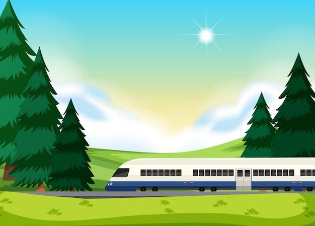 Een spoorlijn naar de natuur