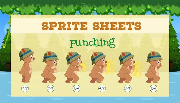 Een sprite sheet ponsen spel sjabloon