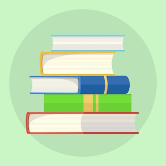 Een stapel kleurrijke boeken