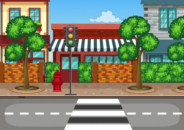 Een stedelijk straatbeeld
