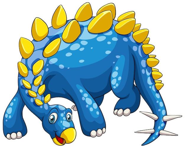 Een stegosaurus dinosaurus stripfiguur