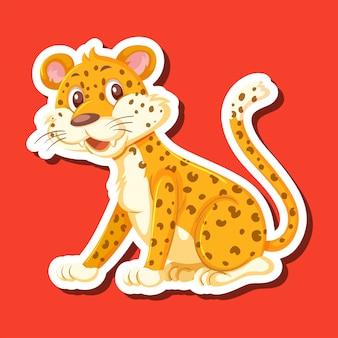 Een sticker met luipaardkarakters