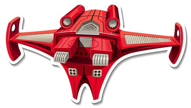 Een stickersjabloon met een geïsoleerd jachtvliegtuig