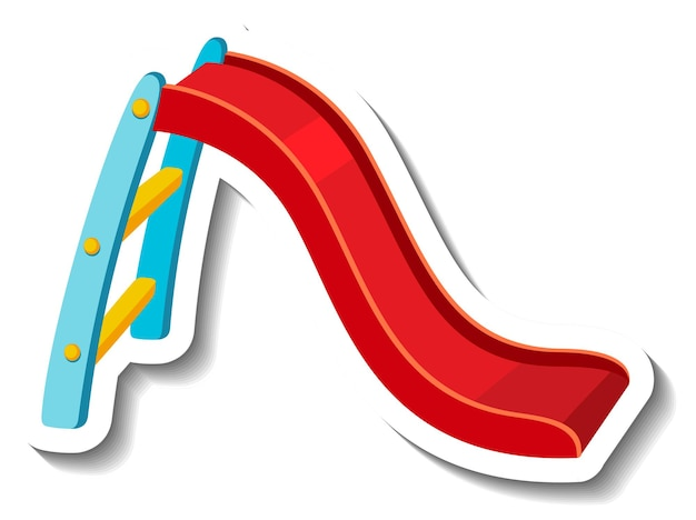 Een stickersjabloon met een glijbaan speeltoestellen