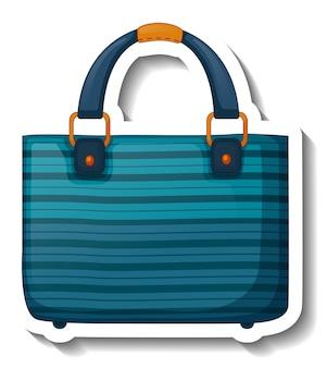 Een stickersjabloon met een unisex-handtas geïsoleerd