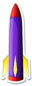 Een stickersjabloon met space ship cartoon geïsoleerd