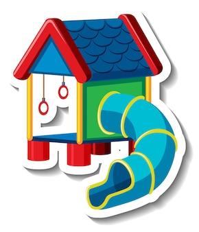 Een stickersjabloon met speeltoestellen voor kinderen