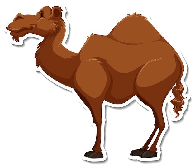 Een stickersjabloon van een stripfiguur van een kameel