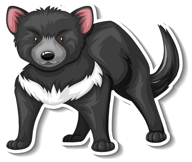 Een stickersjabloon van het stripfiguur van de tasmaanse duivel