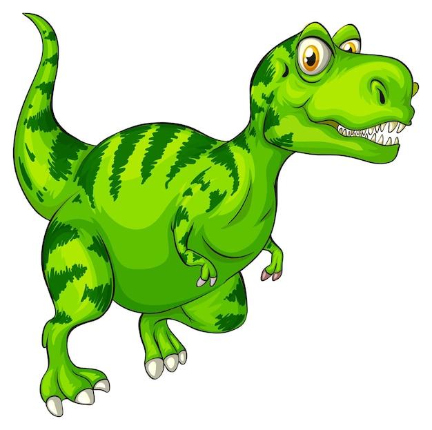 Een stripfiguur van een raptorex-dinosaurus