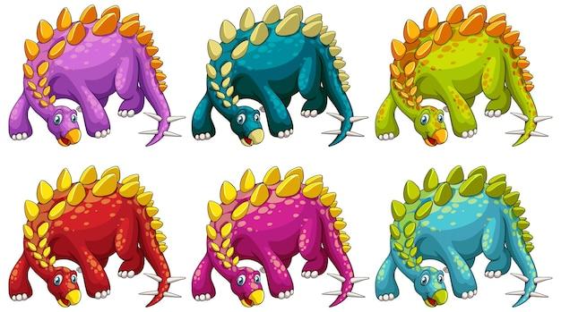 Een stripfiguur van een stegosaurus dinosaurus