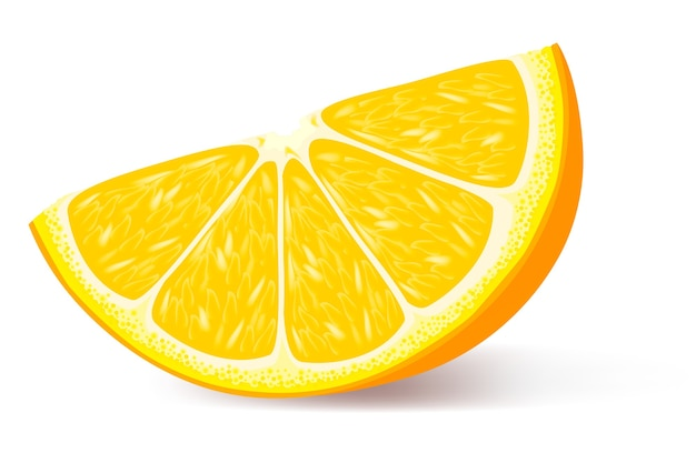 Een stukje oranje illustratie