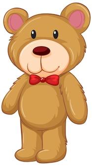 Een teddybeer in staande houding