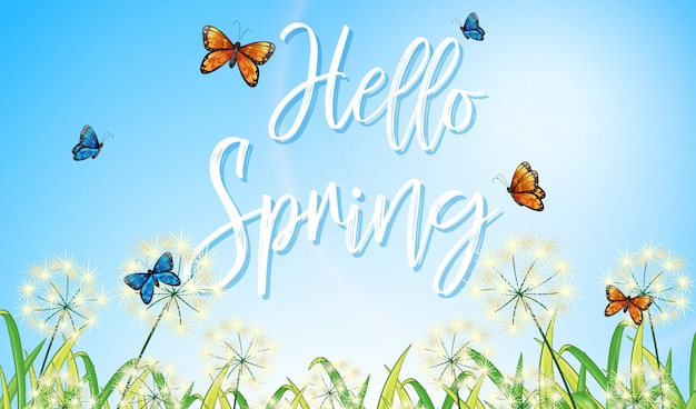 Een tekstbrief van de lente