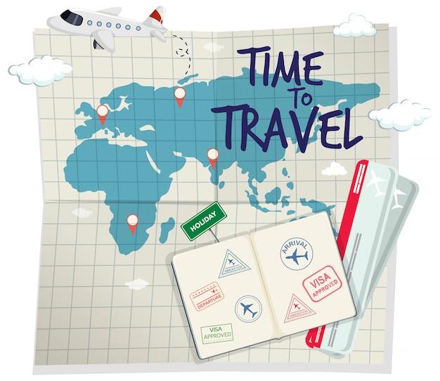 Een tijd om te reizen sjabloon