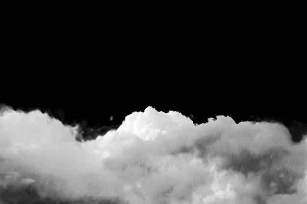 Een transparante realistische wolk op een zwarte achtergrond