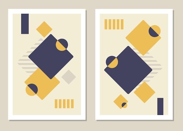 Een trendy set van abstracte geometrische vormen in een minimalistische stijl, geweldige decoratie voor muren, kaarten, brochures, verpakkingen, omslagen. vector illustratie