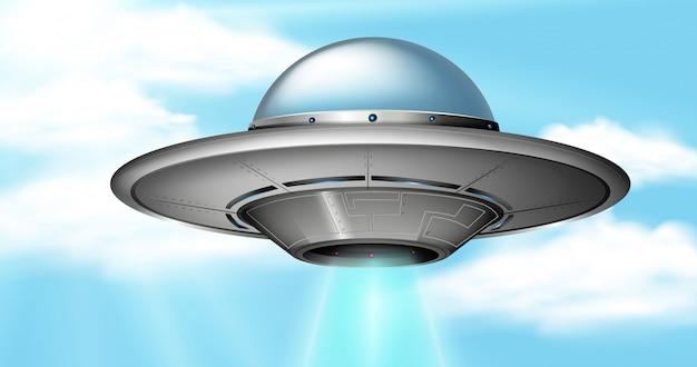 Een ufo in de lucht