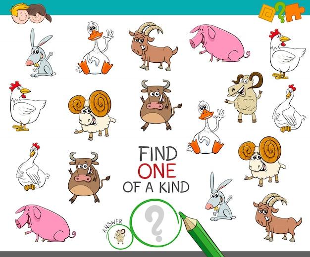 Een uniek spel met grappige boerderijdieren