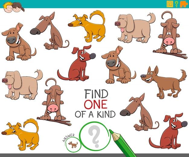 Een uniek spel met grappige hondenfiguren