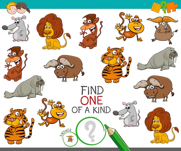 Een uniek spel met karakters van wilde dieren