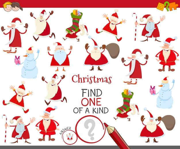 Een uniek spel met santa-stripfiguren