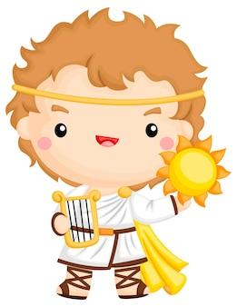 Een vector van apollo, de god van de zon