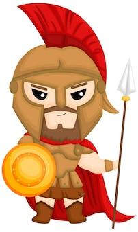 Een vector van ares the god of war Gratis Vector