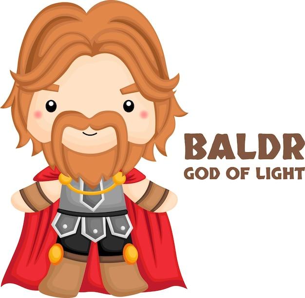 Een vector van baldr uit de noorse mythologie