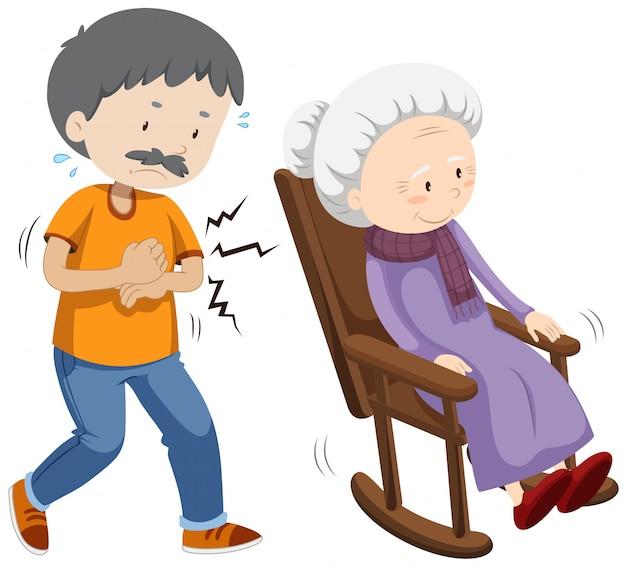 Een vector van oude mensen