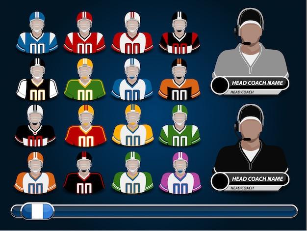 Een vectorillustratie van amerikaans voetbal jersey