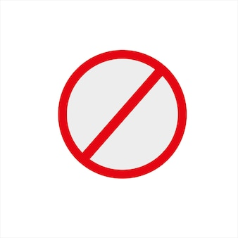 Een verbiedend pictogram op een witte achtergrond vectorillustratie