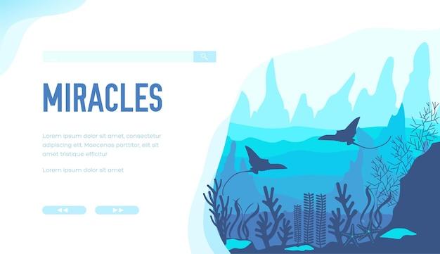 Een verleidelijk onderwaterlandschap illustratie ontwerpconcept