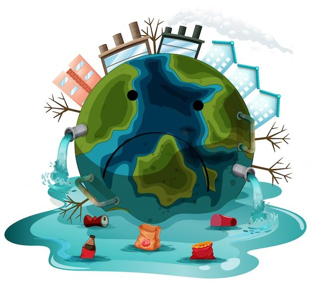 Een vervuild aardeteken