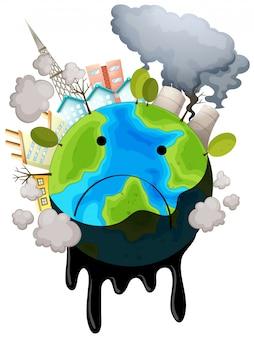 Een vervuilde aarde