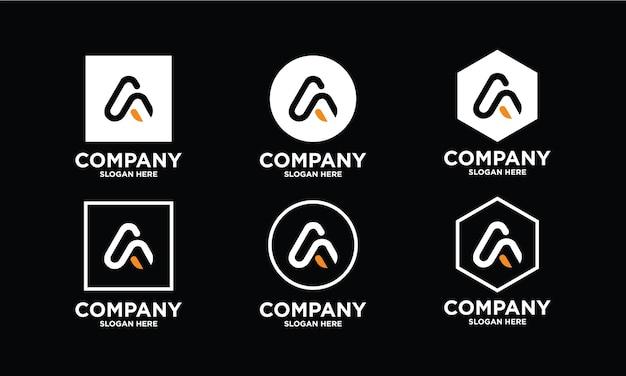 Een verzameling creatieve a-letterlogo-ontwerpen