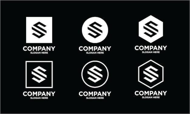 Een verzameling creatieve s-letterlogo-ontwerpen