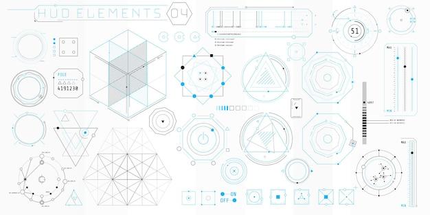 Een verzameling dunne elementen voor het ontwerp van computer- en software-interfaces.