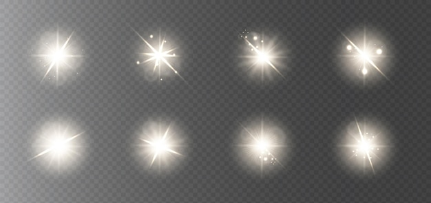 Een verzameling heldere gouden highlights voor nieuwjaar en kerst.