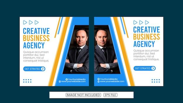 Een verzameling postsjablonen voor sociale media voor creatieve agenten digitale banners-posters