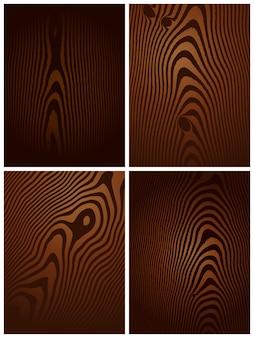 Een verzameling van donker hout textures