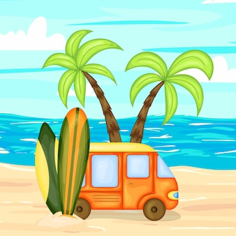 Een verzameling zomerartikelen illustratie