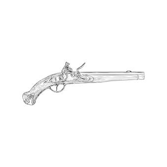 Een vintage illustratie van het geweerkanon