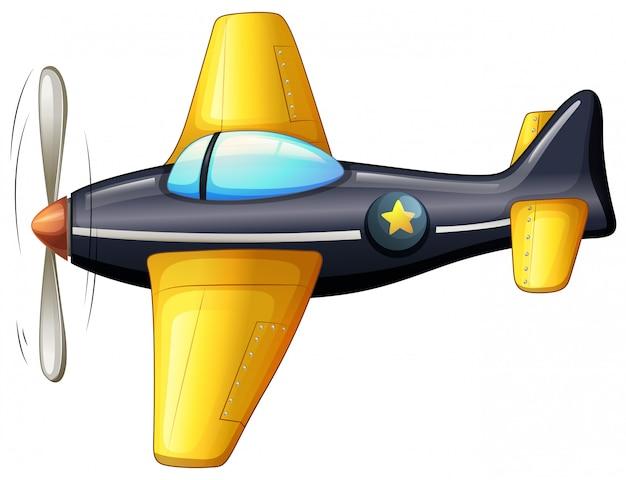 Een vintage vliegtuig