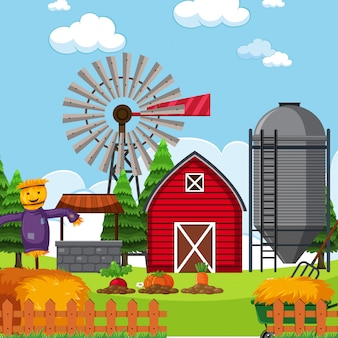 Een vlak landbouwgrondlandschap