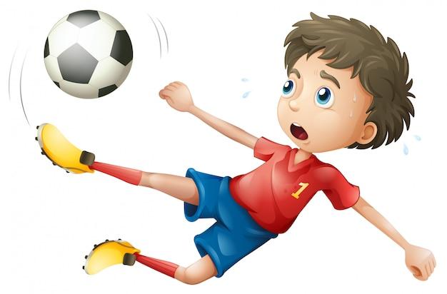 Een voetbal speler karakter