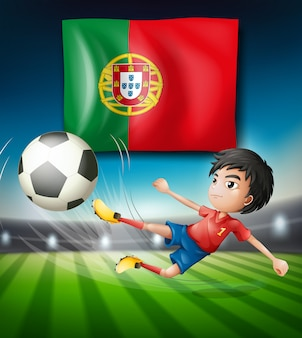 Een voetballer uit portugal